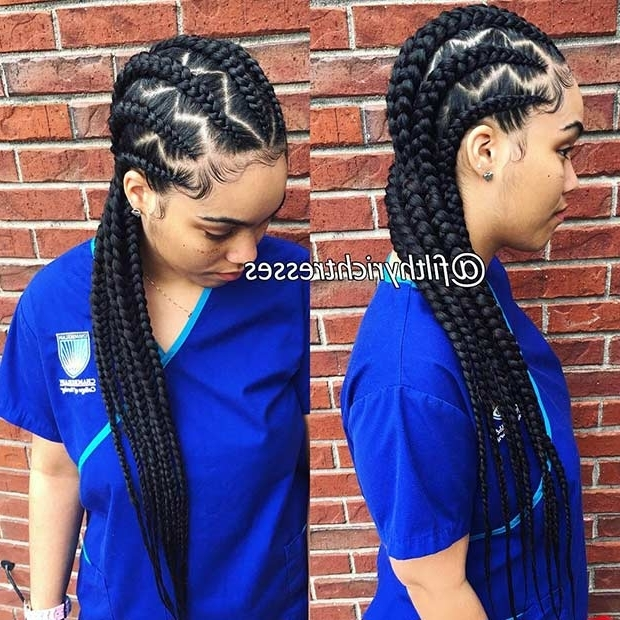 31 Cornrow Styles To Copy For Summer | Stayglam Regarding Newest Cornrows Hairstyles To The Back (View 14 of 15)