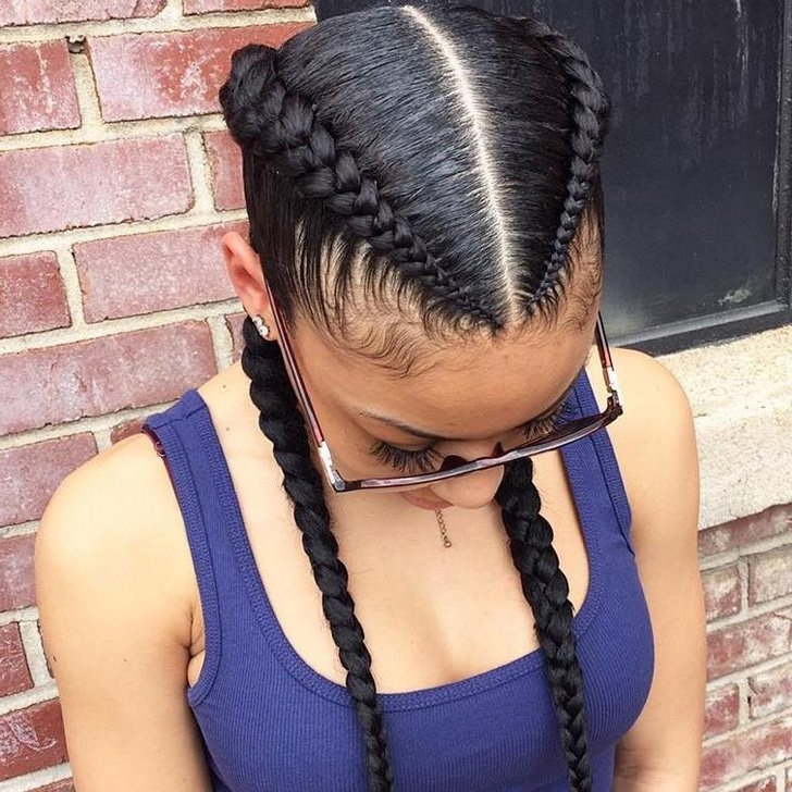 31 Fulani Cornrow Boxer Braids Hairstyles 2018 That Elegance Your Inside Most Popular Two Cornrow Boxer Braids (View 13 of 15)