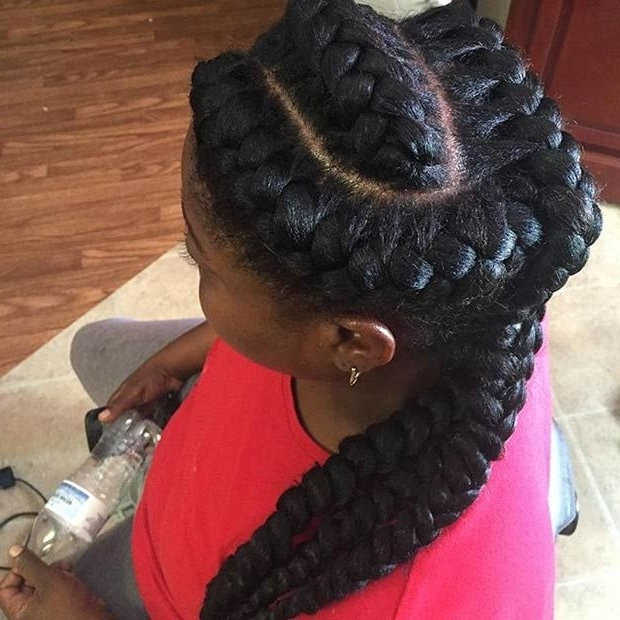 31 Goddess Braids Hairstyles For Black Women | Hair | Pinterest Pertaining To Latest Fiercely Braided Hairstyles (View 5 of 15)