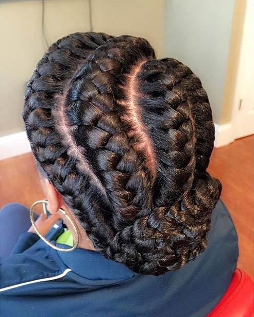 31 Goddess Braids Hairstyles For Black Women | Page 2 Of 3 | Stayglam Within Current Goddess Braid Hairstyles (View 2 of 15)