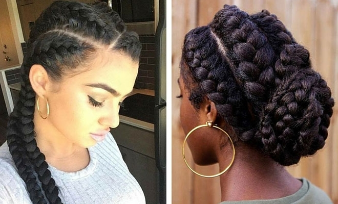 31 Goddess Braids Hairstyles For Black Women | Stayglam In Most Popular Goddess Braid Hairstyles (View 5 of 15)