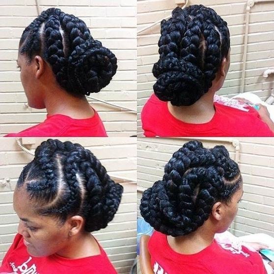 31 Goddess Braids Hairstyles For Black Women | Stayglam Within In Latest Braided Goddess Updo Hairstyles (View 7 of 15)