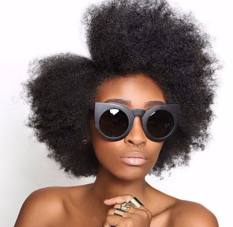 31 Of The Best Afro Hairstyles From Pinterest For Most Recently Crossed Twists And Afro Puff Pony (View 11 of 15)
