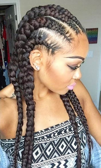 31 Stylish Ways To Rock Cornrows   Page 2 Of 3   Stayglam Within Recent Chunky Cornrows Hairstyles (View 5 of 15)