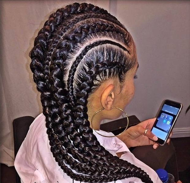 31 Stylish Ways To Rock Cornrows | Stayglam Throughout Latest Jumbo Cornrows Hairstyles (View 6 of 15)