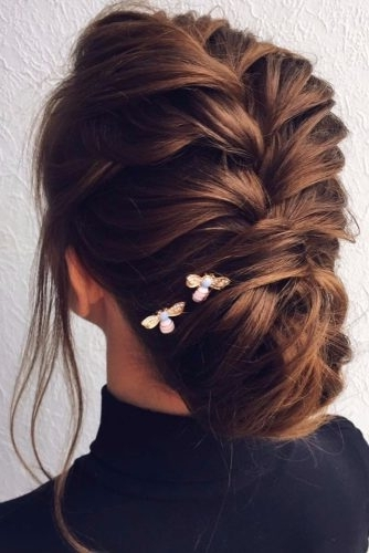 33 Graceful Wedding Updos With Braids | Page 3 Of 12 | Wedding Forward Pertaining To Most Up To Date Updo With Forward Braided Bun (View 6 of 15)