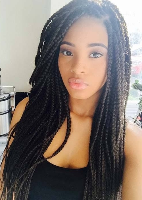 35 Awesome Box Braids Hairstyles You Simply Must Try | Creative With Best And Newest Box Braids Hairstyles (View 10 of 15)