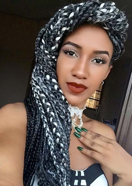 35 Awesome Box Braids Hairstyles You Simply Must Try | Fashionisers Intended For Best And Newest Two Extra Long Braids (View 12 of 15)