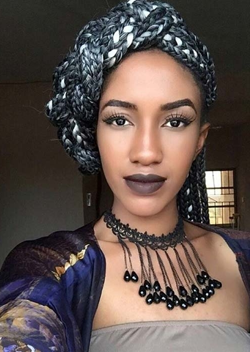 35 Awesome Box Braids Hairstyles You Simply Must Try   Fashionisers With Regard To Most Popular Exotic Twisted Knot Hairstyles (View 10 of 15)
