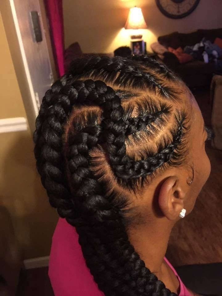 35 Beautiful Feed In Braid Styles | Hair Care | Pinterest | Braid Intended For Recent Thick And Thin Asymmetrical Feed In Braids (View 12 of 15)