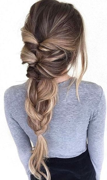 35 Chic & Messy Updo Hairstyles For Luxuriously Long Hair Within Newest Braid Hairstyles For Long Hair (View 9 of 15)