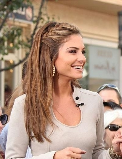 35 Fetching Hairstyles For Straight Hair To Sport This Season | Hair Inside Most Current Braided Hairstyles In The Front (View 11 of 15)
