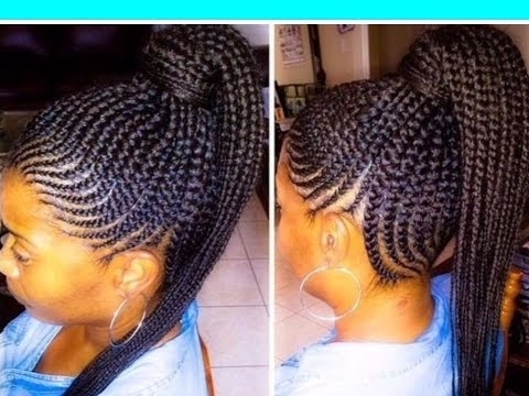 35 Lovely Braided Updo With Kanekalon Hair – Youtube In Current Mixed Braid Updo For Black Hair (View 5 of 15)