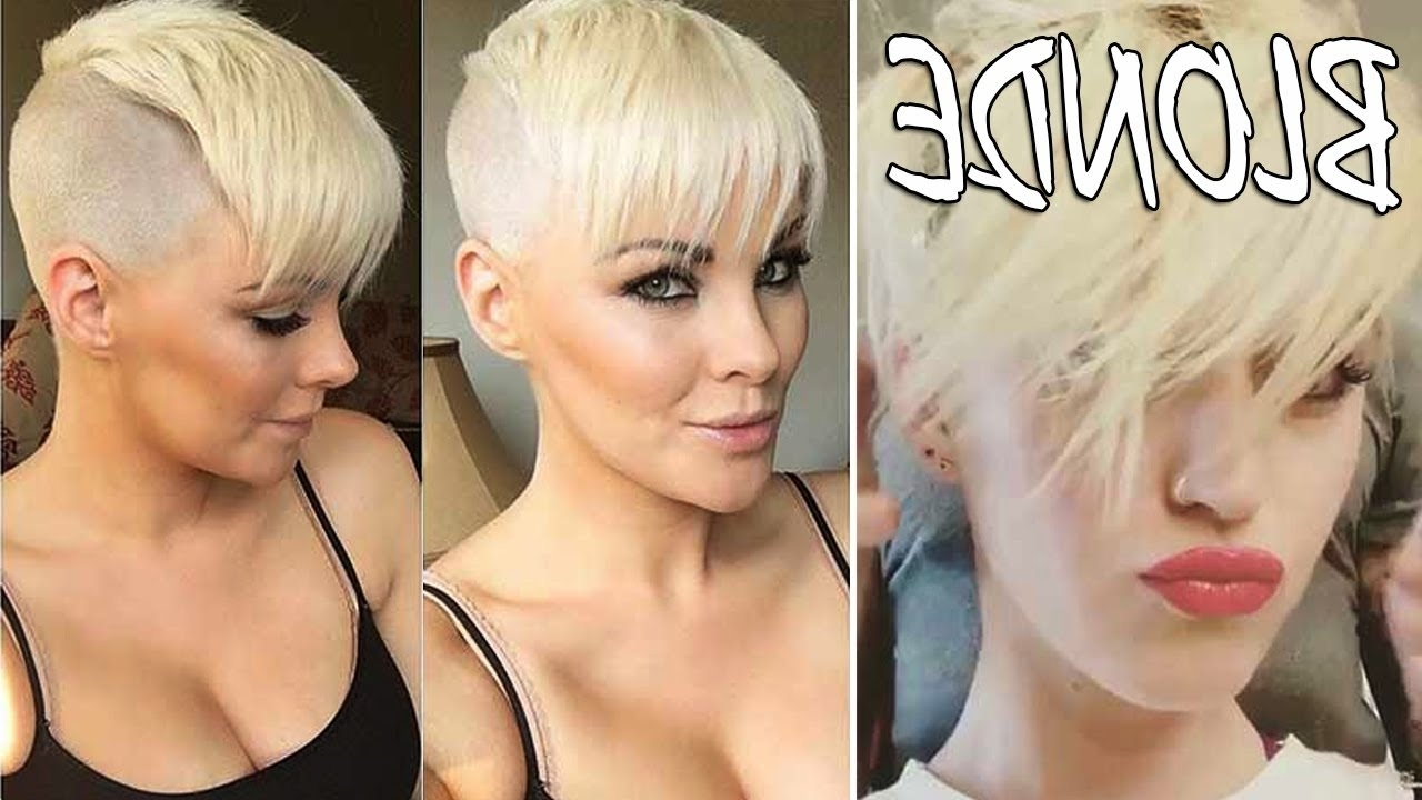 35 White Platinum Blonde Hair – Short Blonde Hair For Women – Youtube Pertaining To 2018 Bleach Blonde Pixie Haircuts (View 11 of 15)