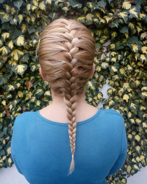 36 Cute French Braid Hairstyles For 2018 Throughout Latest Blonde Pony With Double Braids (View 15 of 15)