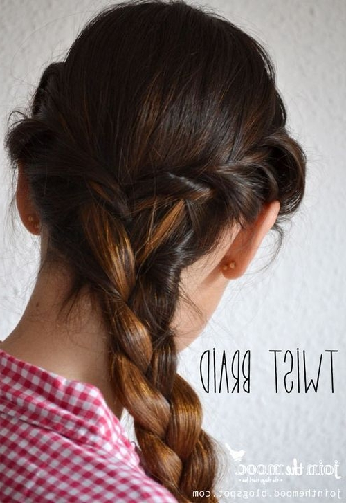 38 Quick And Easy Braided Hairstyles Modern Of Simple Braid Styles Intended For Most Recent Simple Braided Hairstyles (View 8 of 15)
