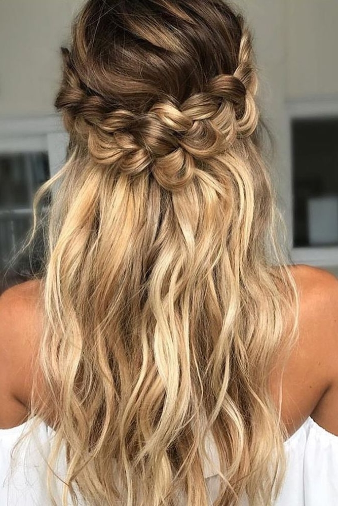 39 Braided Wedding Hair Ideas You Will Love | Wedding Day Hair Regarding Current Romantic Curly And Messy Two French Braids Hairstyles (View 13 of 15)