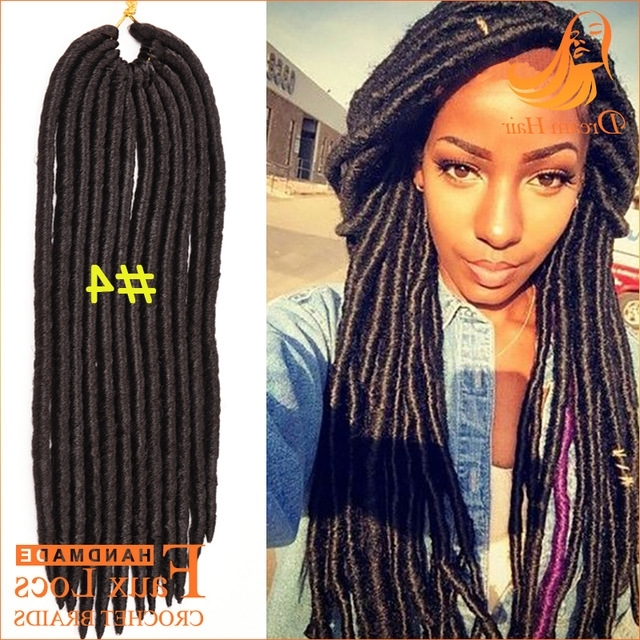 4# 14Inch Black Women Hairstyles Faux Locs Crochet Hair Synthetic Pertaining To Best And Newest Braided Dreads Hairstyles For Women (View 13 of 15)