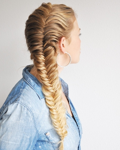40 Awesome Jazzed Up Fishtail Braid Hairstyles For Most Up To Date French Braids Crown And Side Fishtail (View 7 of 15)