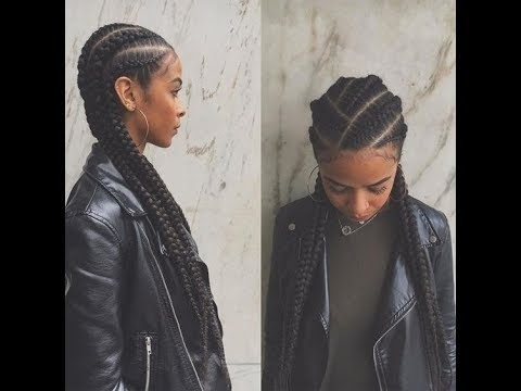 40 Creative Small Cornrow Hairstyles For Black Ladies; Great Braid Throughout Best And Newest Creative Cornrows Hairstyles (View 7 of 15)