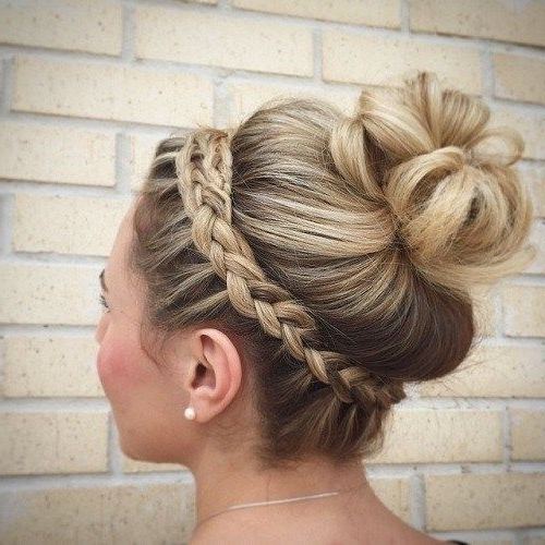 40 Cute And Comfortable Braided Headband Hairstyles | Hair Within Newest French Braid Crown And Bun Updo (View 2 of 15)