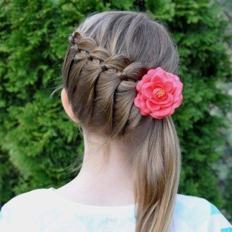 40 Cute And Cool Hairstyles For Teenage Girls | Pony Hairstyles Pertaining To Newest Diagonally Braided Ponytail (View 12 of 15)