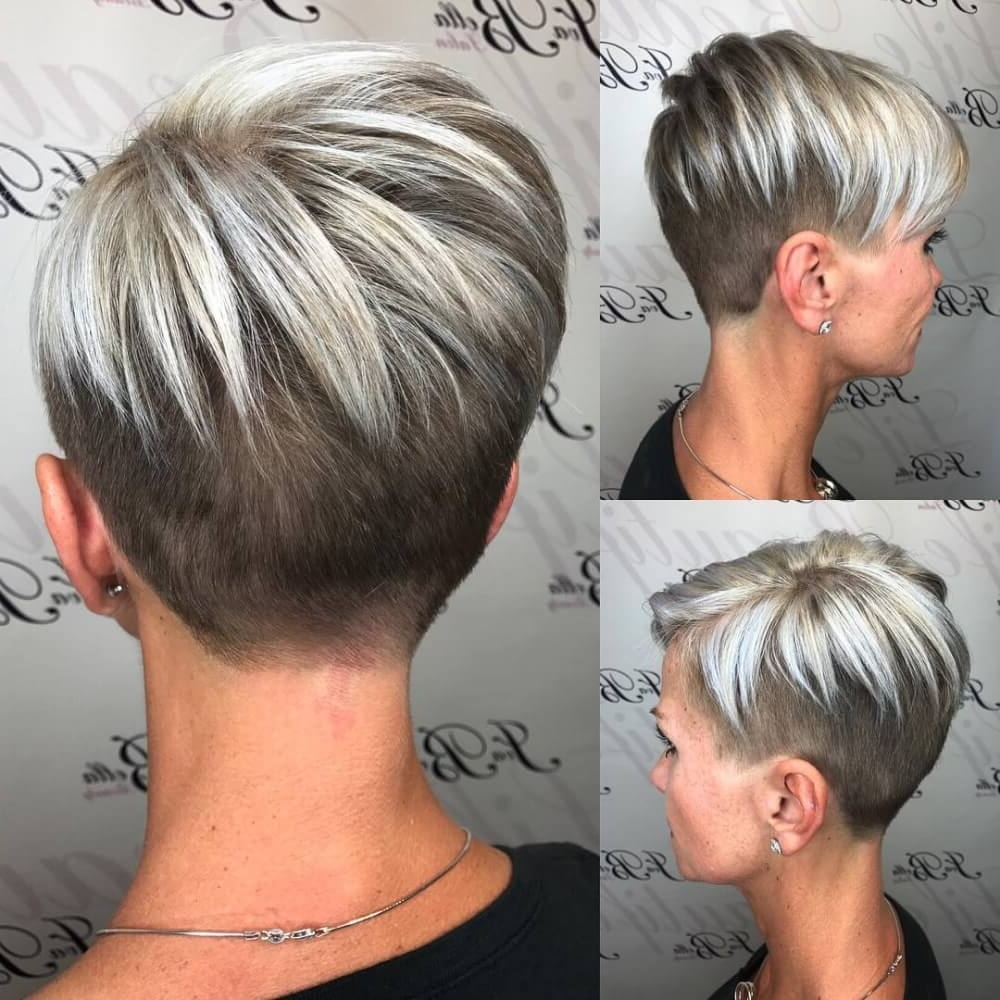 40 Cute Short Haircuts For Short Hair (Updated For 2018) In Most Recently Gray Blonde Pixie Haircuts (View 7 of 15)