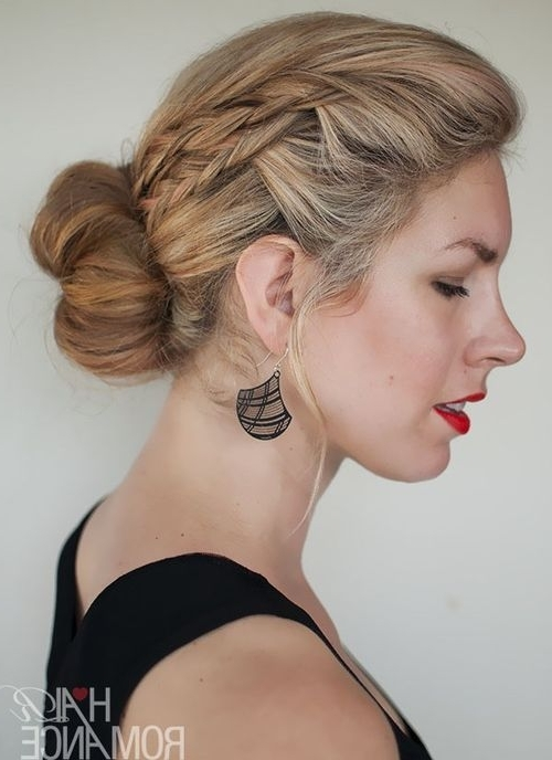 Featured Photo of Two French Braid Hairstyles With A Sock Bun