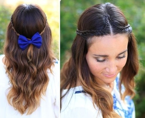 Featured Photo of Thin Double Braids With Bold Bow