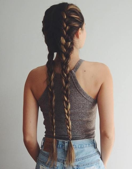 40 Flirty And Fantastic Two French Braid Hairstyles – Page 8 Inside Recent Two French Braid Hairstyles With Flower (View 5 of 15)