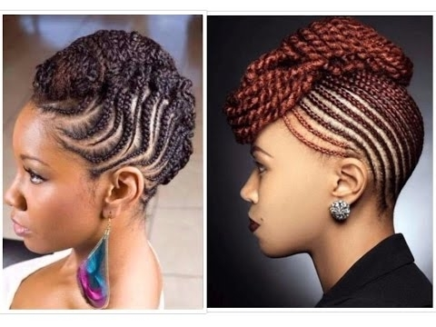 40 Natural Classy Braided And Twisted Updo – Youtube Pertaining To Latest Cornrow Updo Braid Hairstyles (View 3 of 15)