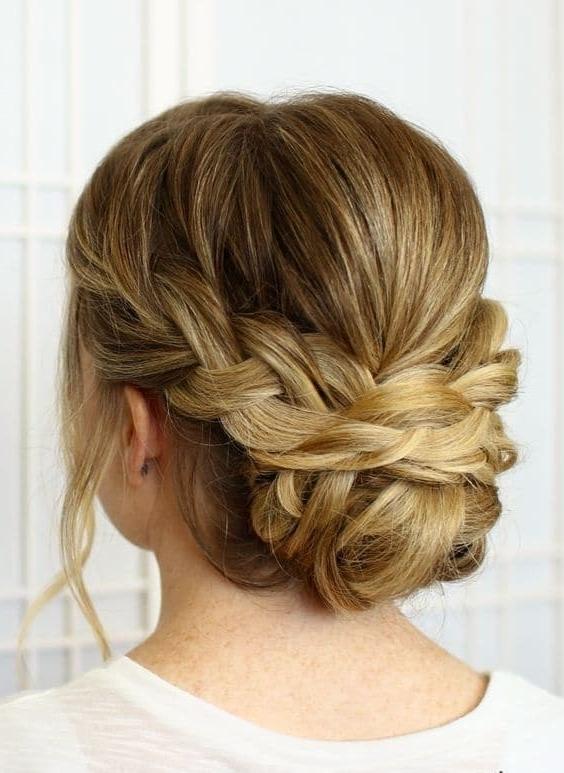 40 Ravishing Braided Bun Hairstyles To Fall In Love – Hairstylecamp For Newest Braided Bun Hairstyles (View 8 of 15)