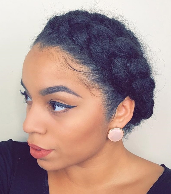 40 Short Hairstyles For Black Women Regarding Most Recent Dutch Braid Crown For Black Hair (View 15 of 15)