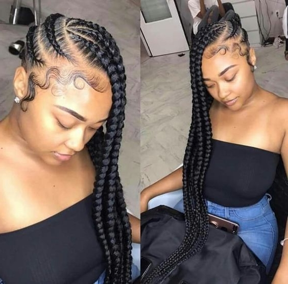 40+ Totally Gorgeous Ghana Braids Hairstyles | Braids | Pinterest Throughout Newest Cornrows Side Hairstyles (View 4 of 15)
