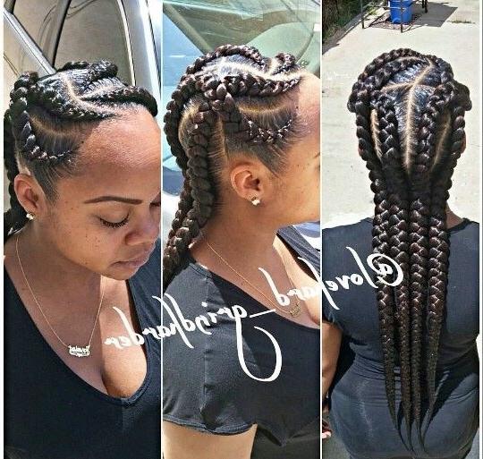 40+ Totally Gorgeous Ghana Braids Hairstyles | Braids | Pinterest With Most Popular Mohawk With Criss Crossed Braids (View 3 of 15)