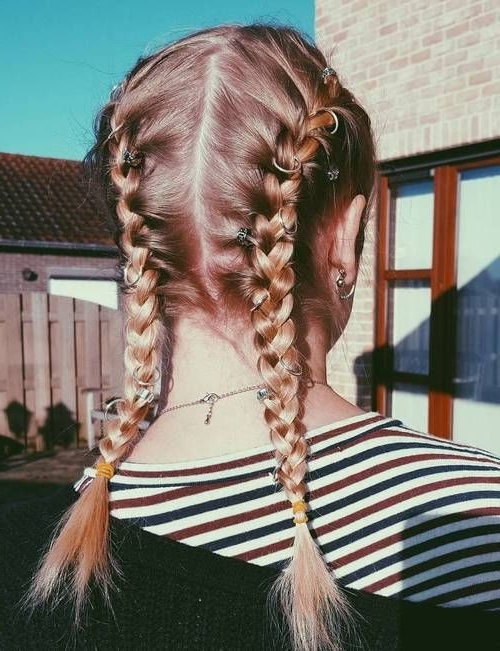 Featured Photo of Pigtails Braids With Rings For Thin Hair