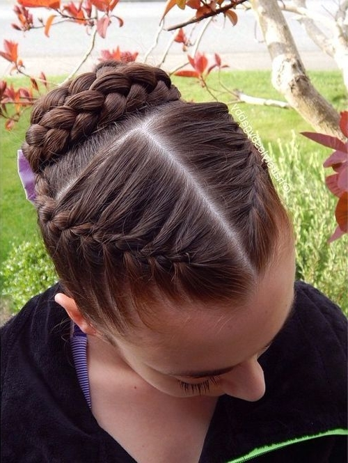 Featured Photo of Braided Bun With Two French Braids