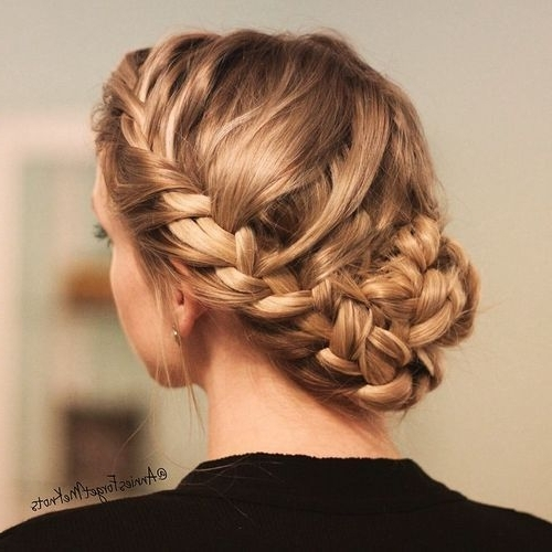 Featured Photo of French Braid Crown And Bun Updo