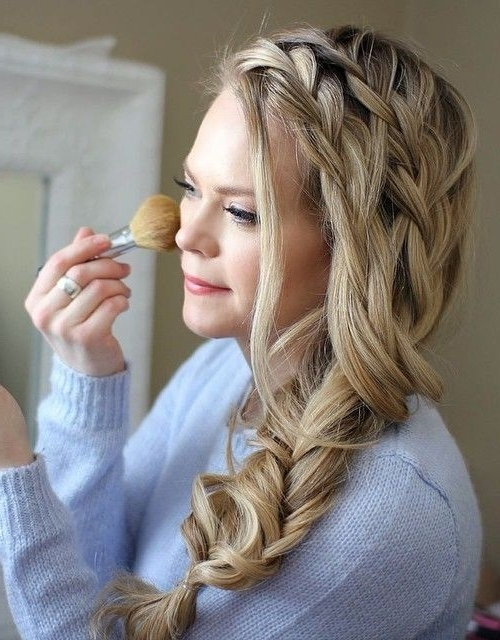 40 Two French Braid Hairstyles For Your Perfect Looks | Pinterest Throughout Latest French Braids Crown And Side Fishtail (View 9 of 15)