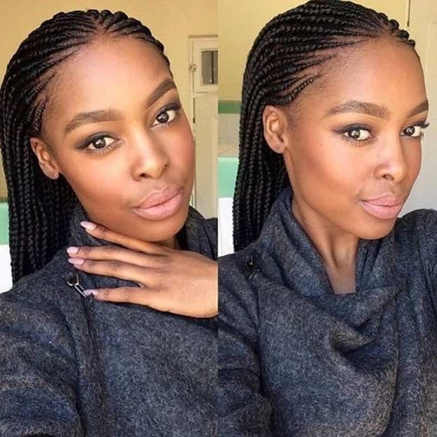 41 Beautiful Micro Braids Hairstyles | Stayglam Hairstyles For Most Recently Cornrows Hairstyles With Braids (View 4 of 15)