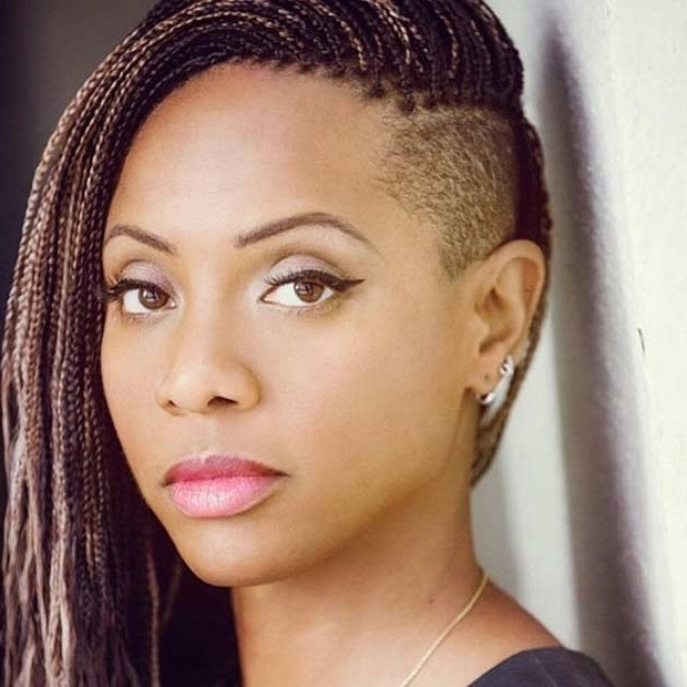 41 Beautiful Micro Braids Hairstyles   Stayglam Throughout Most Current Braided Hairstyles With Shaved Sides (View 9 of 15)