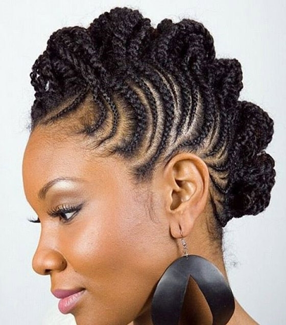 41 Cute And Chic Cornrow Braids Hairstyles For Best And Newest Mixed Braid Updo For Black Hair (View 4 of 15)