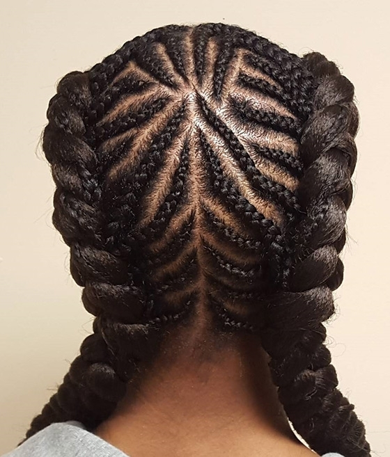 41 Cute And Chic Cornrow Braids Hairstyles Pertaining To Most Recently Creative Cornrows Hairstyles (View 12 of 15)