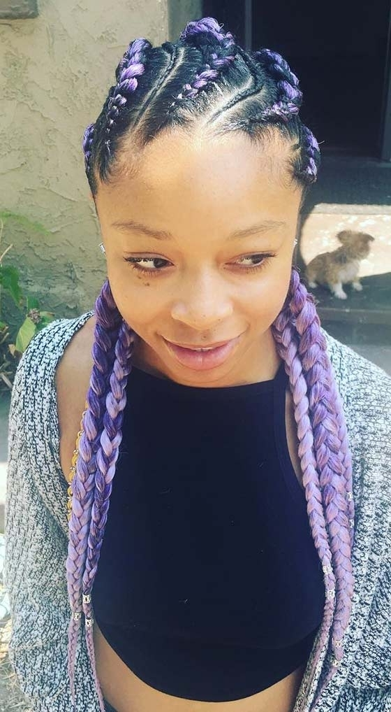 41 Cute And Chic Cornrow Braids Hairstyles Regarding Most Recent Cornrows Hairstyles With White Color (View 2 of 15)