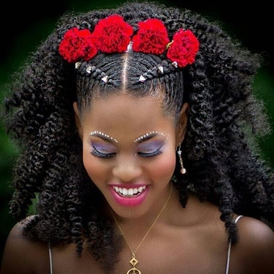 41 Cute And Chic Cornrow Braids Hairstyles Within Recent Half Up Half Down Cornrows Hairstyles (View 15 of 15)