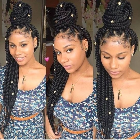 42 Chunky Cool Jumbo Box Braids Styles In Every Length Throughout Most Popular Triangle Box Braids Hairstyles (View 11 of 15)