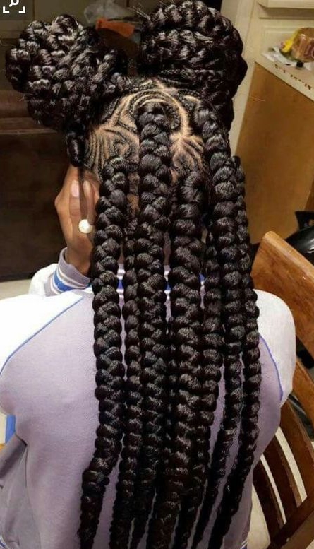 42 Chunky Cool Jumbo Box Braids Styles In Every Length With Most Up To Date Triangle Box Braids Hairstyles (View 10 of 15)