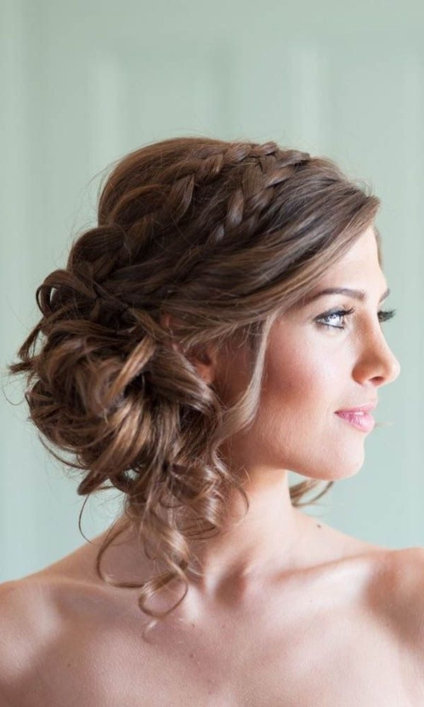 42 Wedding Hairstyles – Romantic Bridal Updos | Hair! | Pinterest Regarding Most Current Updo With Forward Braided Bun (View 4 of 15)