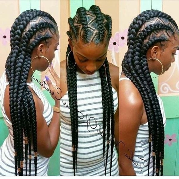 43 New Feed In Braids And How To Do It – Style Easily With Newest Cornrows With Artistic Beaded Twisted Bun (View 7 of 15)