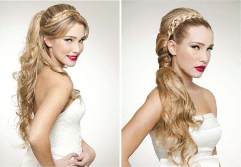 45 Braided Wedding Hairstyles Ideas – Weddingomania Intended For Most Recent Braided Vintage Hairstyles (View 2 of 15)